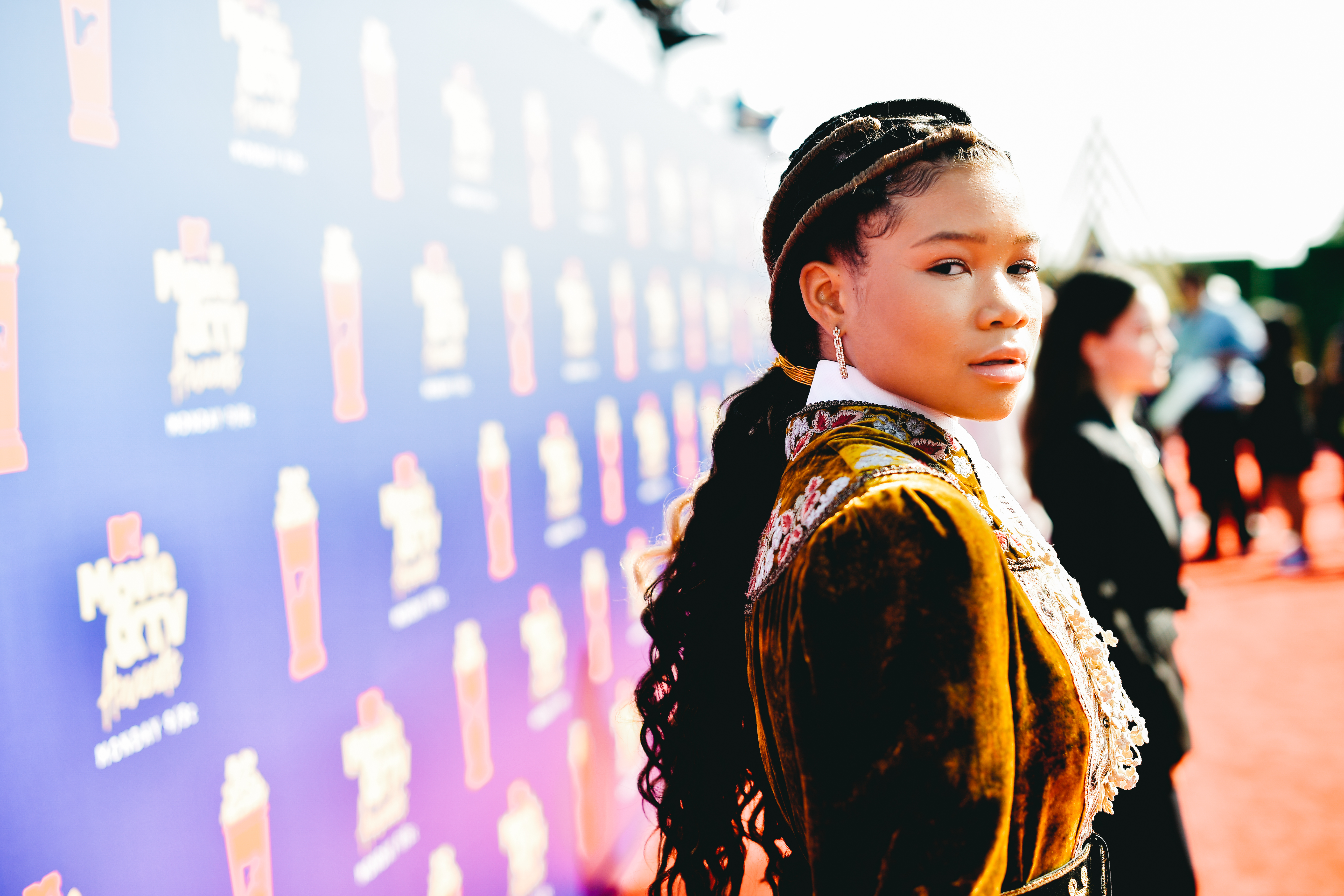 SANTA MONICA, CALIFORNIA - JUNE 15: (EDITORS NOTE: Image has been processed using digital filters) Storm Reid attends the 2019 MTV Movie and TV Awards at Barker Hangar on June 15, 2019 in Santa Monica, California. (Photo by Matt Winkelmeyer/Getty Images for MTV)