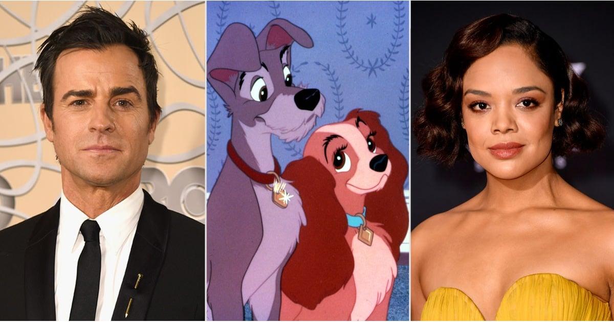 """Tessa Thompson dá voz a Dama e Justin Theroux a Vagabundo, no remake de """"A Dama e o Vagabundo""""."""